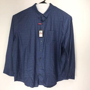 Van Heusen 3XL 20-20.5 Shirt Button Down Front